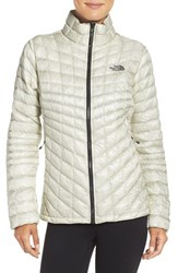 The North Face Women's 'Thermoball Tm ' Primaloft Front Zip Jacket Vaporous Grey