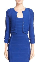Women's Yigal Azrou L Ruffle Knit Cardigan