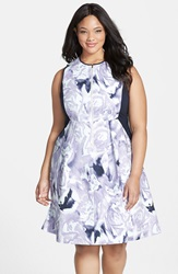 Floral Print Fit And Fare Dress Plus Size Wisteria