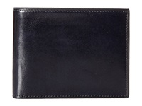 Bosca Old Leather Collection Executive Id Wallet Navy Bi Fold Wallet