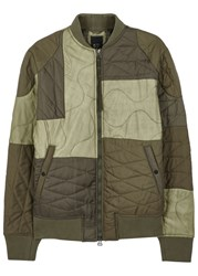 Mhi Tonal Olive Quilted Shell Jacket