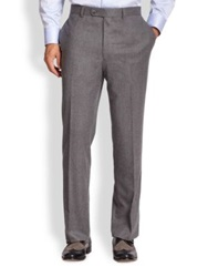 Saks Fifth Avenue Flannel Trousers Brown