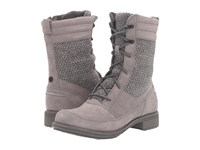 The North Face Bridgeton Lace Mm Smoked Pearl Grey Dark Shadow Grey Women's Lace Up Boots Gray