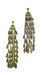 Tory Burch Oxidized Metal Chandelier Earrings Oxidized Gold