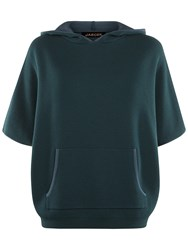 Jaeger Double Faced Hooded Cape Green