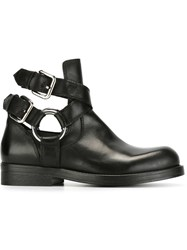 Diesel Black Gold Strappy Ankle Boots