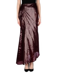 Blumarine Long Skirts Deep Purple