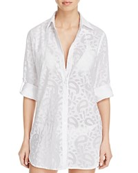 Tommy Bahama Boyfriend Shirt Swim Cover Up White