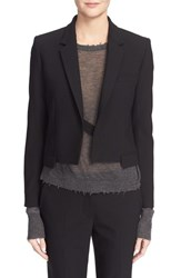 Helmut Lang Women's Cropped Notch Collar Blazer