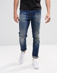 Only And Sons Dark Wash Slim Fit Jeans Dark Blue