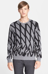 Paul Smith Print Cashmere Blend Sweater Light Grey