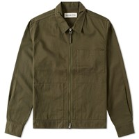 Universal Works Uniform Zip Overshirt Green