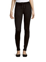 Romeo And Juliet Couture Skinny Lace Up Pants Black