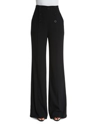 Escada High Waist Wide Leg Sailor Pants Black