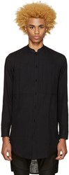 Balmain Black Cotton Shirt