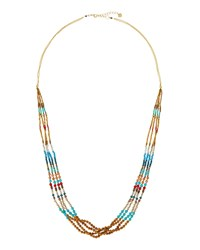 Nakamol Long Beaded Multi Strand Necklace Turquoise