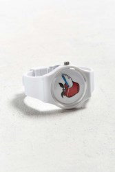 Urban Outfitters Uo Art Watch Red Apple White