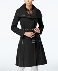 Bcbgeneration Asymmetrical A Line Walker Coat Black