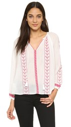 Glamorous Embroidered Blouse Cream Red