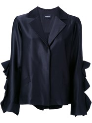 Elaidi Ruffle Sleeve Jacket Black