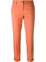 Alberto Biani Cropped Tailored Trousers Yellow And Orange