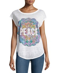 Chaser Peace Mandala Graphic Tee White