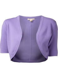 Michael Kors Cropped Shrug Pink And Purple