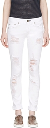 Rag And Bone White The Dre Slim Boyfriend Jeans
