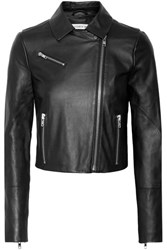 Elizabeth And James Gigi Leather Biker Jacket Black
