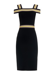Christopher Kane Striped Strap Off The Shoulder Dress