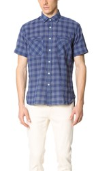 Billy Reid Donelson Shirt Navy Plaid