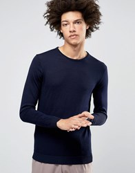 Selected Homme Merino Wool Crew Neck Jumper Navy