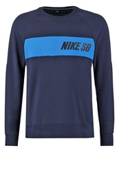 Nike Sb Everett Sweatshirt Obsidian Light Photo Blue Dark Blue