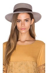 Michael Stars Flat Top Fedora Gray