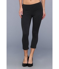 Hue Cotton Capri Legging Graphite Heather Women's Capri Gray