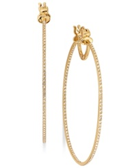 Sis By Simone I Smith 18K Gold Over Sterling Silver Earrings Eternal Love In And Out Crystal Hoop Earrings