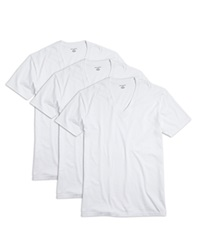 The Men's Store At Bloomingdale's V Neck Tee Pack Of 3 White