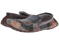 Bedroom Athletics George Natural Navy Check Men's Slippers