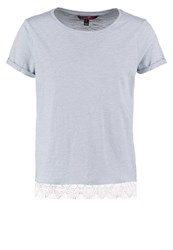 Tom Tailor Denim Print Tshirt Light Powder Blue Light Blue