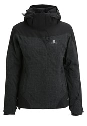 Salomon Icerocket Ski Jacket Black Heather Black Mottled Black