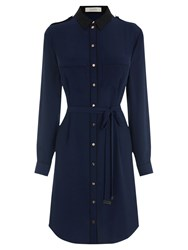 Oasis Utility Piped Shirt Dress Navy
