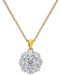 Marchesa Diamond Pendant In 18K Gold And White Gold 3 4 Ct. T.W. Two Tone