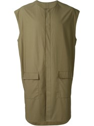 3.1 Phillip Lim Oversized Sleeveless Utility Shirt Green