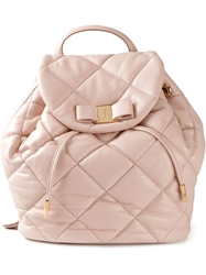 Salvatore Ferragamo 'Vara' Quilted Backpack Pink And Purple