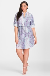 Mynt 1792 Snakeskin Print Shirtdress Plus Size Cool Neon Snake