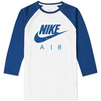 Nike 3 4 Air Raglan Tee White