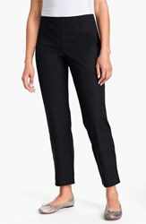 Eileen Fisher Women's Organic Stretch Cotton Twill Ankle Pants Black