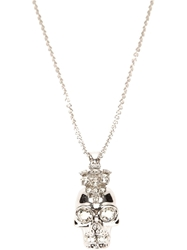 Alexander Mcqueen 'Punk Skull' Necklace Metallic