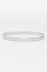 Kate Spade 'Idiom Find The Silver Lining' Bangle