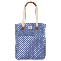 Joules Homerton Print Canvas Tote Bag Chambray Hare